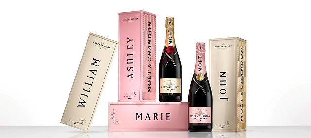 Moët & Chandon запускает серию персонализированного шампанского